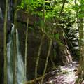 Admiring the falls.- Rock Garden Falls