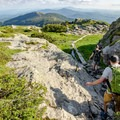 Nearing the intersection of the Sunset and Profanity trails. The Profanity Trail provides a bypass around the Mount Mansfield summit in case of bad weather.- Mount Mansfield via Hell Brook + Long Trails
