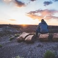 No need to bring a camp chair. Petrified logs make great seats!- Painted Desert