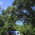 A cozy campsite.- Blue Spring State Park