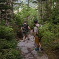 Descending back down to Highway 108 on the Long Trail.- Mount Mansfield via Hell Brook + Long Trails