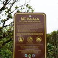 A sign marks the entrance to the summit forest reserve.- Mount Ka'ala