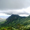 The view on the descent of the Waianae Range and valley.- Mount Ka'ala