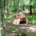 A late woodland wigwam.- Red Trail