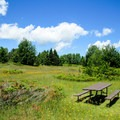 A picnic area.- Red Trail