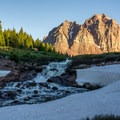 A stream flowing out of Lower Red Castle Lake.- Red Castle Lakes + Wilson Peak