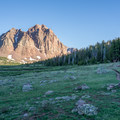 Approaching Lower Red Castle Lake.- Red Castle Lakes + Wilson Peak
