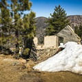 An old cabin still remains at the summit, making a good windbreak or snack spot.- Mount Islip from Islip Saddle