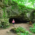 The caves are great places for kids to explore. - Maquoketa Caves
