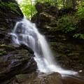 Ozone Falls splashing on the rocks below.- Ricketts Glen State Park