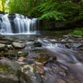 Wyandot Falls from the bottom.- Ricketts Glen State Park