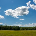 A large, open field, perfect for sports.- Hickory Run State Park