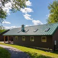 Concessions, restrooms, changing rooms, and shower services at the swimming lake.- Hickory Run State Park