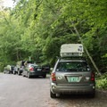 The parking area has room for over 10 cars right off of Route 100 in Granville.- Moss Glen Falls