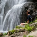 The falls are a great place to reflect.- Moss Glen Falls