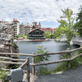 The Mohonk Mountain House across Lake Mohonk.- Labyrinth + Lemon Squeeze
