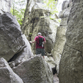 Large boulders to climb over.- Labyrinth + Lemon Squeeze