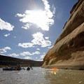 Paddling the Colorado River through Ruby Horsethief Canyon.- Colorado River: Ruby Horsethief Canyon