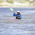 A smaller play boat makes the Class I rapids feel bigger.- Colorado River: Ruby Horsethief Canyon