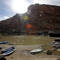 Black Rocks #5 campsite.- Colorado River: Ruby Horsethief Canyon