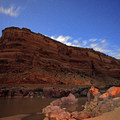 The stars come out over camp in the canyon.- Colorado River: Ruby Horsethief Canyon