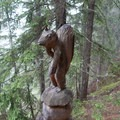 Interesting carvings before getting to Champex.- Tour Du Mont Blanc: Stages 7 + 8