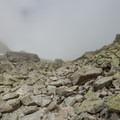 The boulder field toward Fenetre d'Arpette.- Tour Du Mont Blanc: Stages 7 + 8