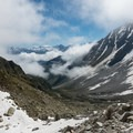 View back from the top of the first boulderfield.- Tour Du Mont Blanc: Stages 7 + 8