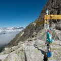 The summit of the pass.- Tour Du Mont Blanc: Stages 7 + 8