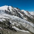 Trient Glacier on the way down.- Tour Du Mont Blanc: Stages 7 + 8