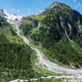 Mountains across the valley near Peuty.- Tour Du Mont Blanc: Stages 7 + 8