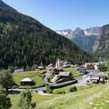 The idyllic Swiss hamlet of Trient.- Tour Du Mont Blanc: Stages 7 + 8