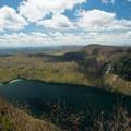 Views of Lake Willoughby.- Mount Pisgah via South Trail