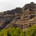 The dramatic canyon walls along the Deschutes River.- Beavertail Recreation Site + Campground