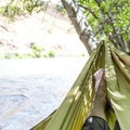 A nice place for a hammock and relaxation along the Deschutes River.- Beavertail Recreation Site + Campground