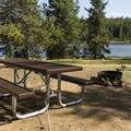 A typical campsite on the less developed side. - Clear Lake Campground