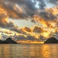 The Mokes at sunrise.- Lanikai Beach