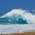 The backwash collides with the incoming wave and creates a huge collision.- Sandy's Beach