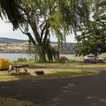 Campsites with a view of the Columbia.- Memaloose State Park Campground