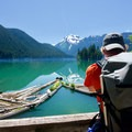 The first view of Packwood Lake.- Packwood Lake