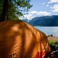 A backcountry campsite.- Packwood Lake