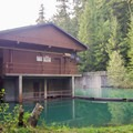 The hydraulic dam.- Packwood Lake