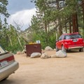 There is plenty of space for parking.- Fork Campground