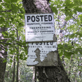 POSTED signs line your path.- Balsam Lake Fire Tower