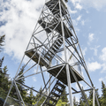 Climb 47 feet to the cab.- Balsam Lake Fire Tower