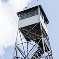 The top cab is locked, but there are still great views!- Balsam Lake Fire Tower