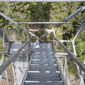 Back down the steps.- Balsam Lake Fire Tower