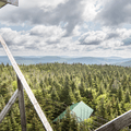 The view to the northeast.- Balsam Lake Fire Tower