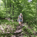 Happily ascending the unmarked trail.- Graham Mountain