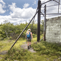 Exploring the TV relay station ruins.- Graham Mountain